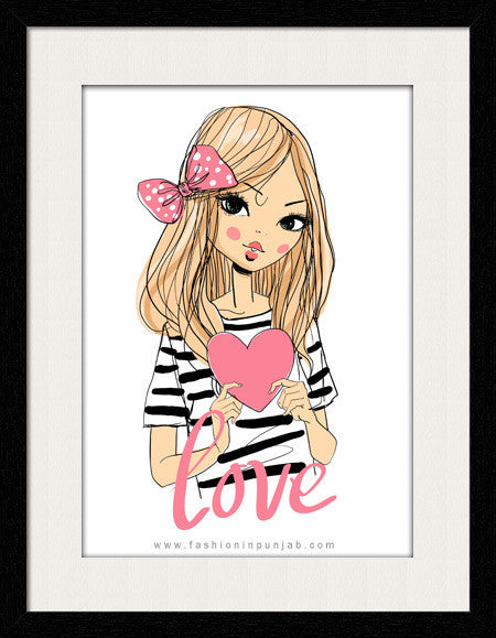 Love For you - Framed Wall Art by Fashion In Punjab