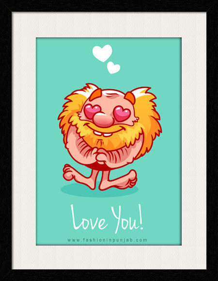 Love You - Framed Wall Art by Fashion In Punjab