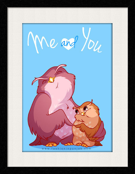 Me and You - Framed Wall Art by Fashion In Punjab