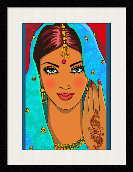 Bridal Face - Framed Wall Art - Fashion In Punjab