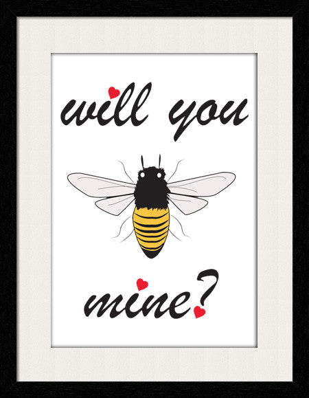 Will you be mine - Framed Wall Art by Fashion In Punjab