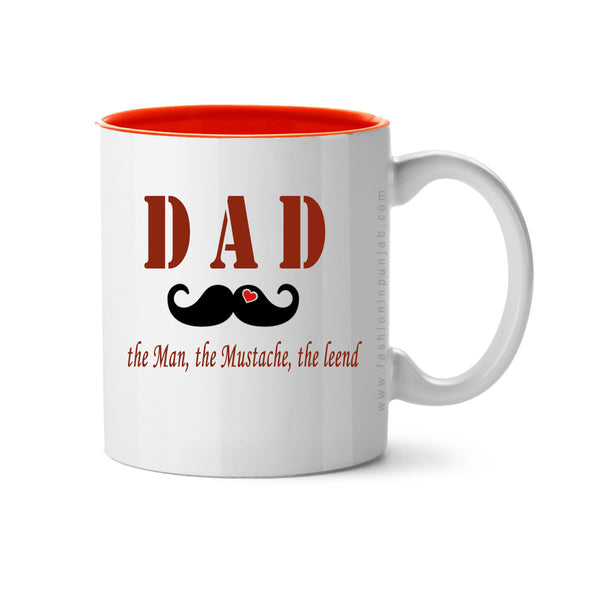 DAD Love Mustache - Fashion In Punjab