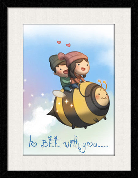 To Bee With You - Framed Wall Art by Fashion In Punjab