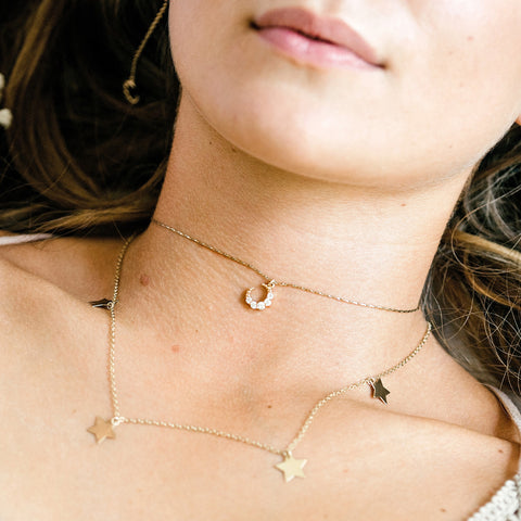 LUNALIGHT NECKLACE<br>SILVER or GOLD