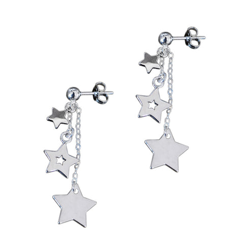 CASCADING STARS EARRINGS<br/>925 STERLING SILVER