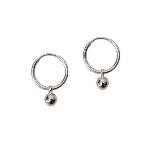 ORBIT HOOPS<br/>925 STERLING SILVER