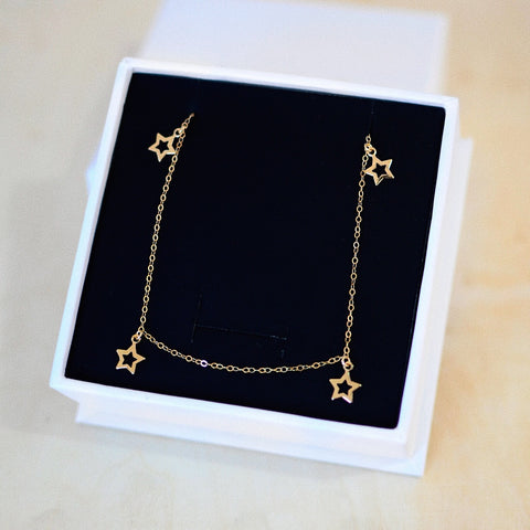 LOOK TO THE STARS NECKLACE<br>14ct GOLD FILL