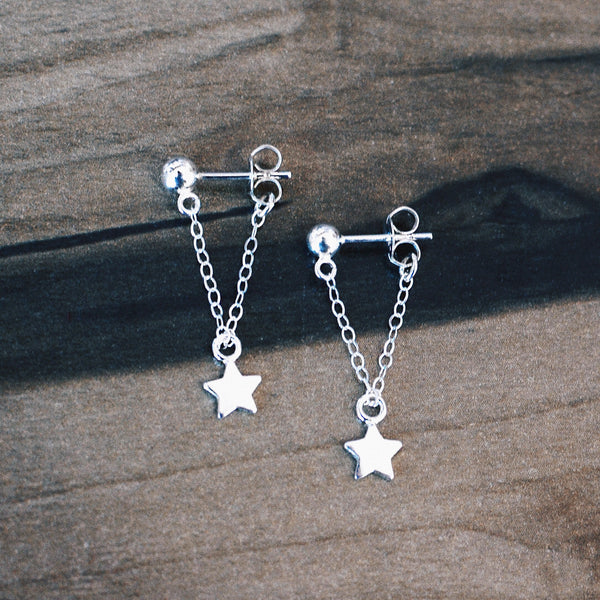 GALAXY EARRINGS<br/>925 STERLING SILVER