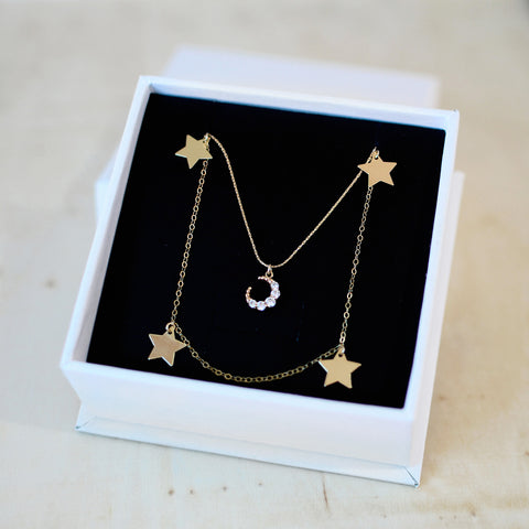 AURORA & LUNALIGHT NECKLACE SET<br>14ct GOLD FILL