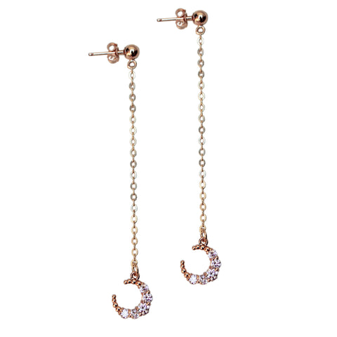 MOONDROP EARRINGS<br>SILVER or GOLD