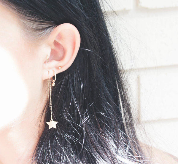 SHOOTING MOON EARRINGS<br>925 STERLING  SILVER