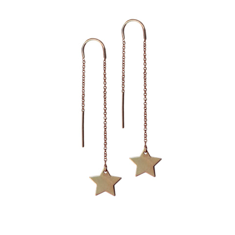 SHOOTING STAR EARRINGS<br>14ct GOLD FILL