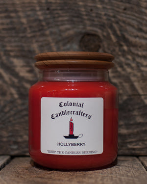 Hollyberry Jar Candles