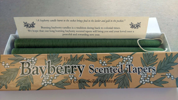 Bayberry Scented Tapers