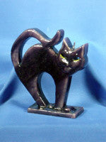 Flat Arching Cat Halloween Candle