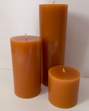 Warm Apple Crisp Pillar Candles