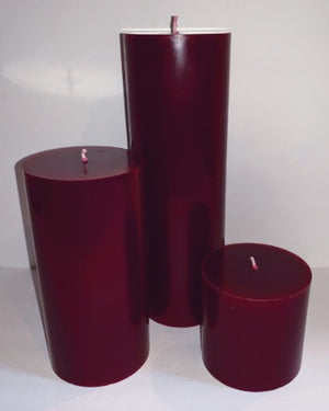 Mulberry Pillar Candles