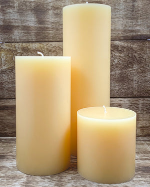 Cinnamon & Cream Pillar Candles