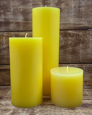 Lemondrops Pillar Candles