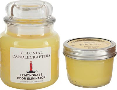 Lemongrass odor eliminator candle