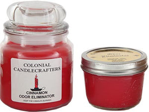 Cinnamon odor eliminator candles