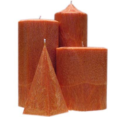 Orange Spice Palm Wax Candles