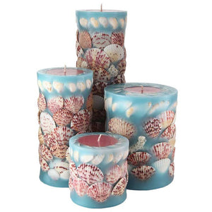 Seashell Pillar Candles