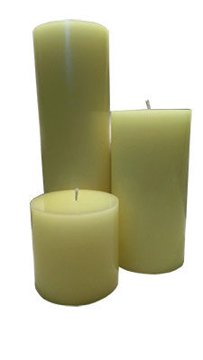 Sun-Kissed Cotton Pillar Candles