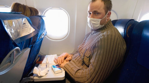 Sick man on plane