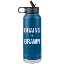 Brains and Brawn Water Bottle