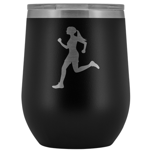 Runner Chick Insulated Wine Tumbler - Chick 9 Clothing