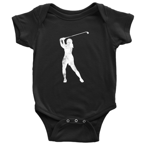 Golfer Chick Infant Bodysuit - Chick 9 Clothing