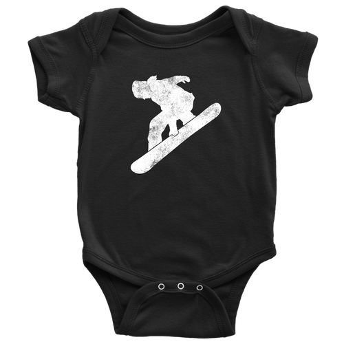 Snowboard Chick Infant Bodysuit - Chick 9 Clothing