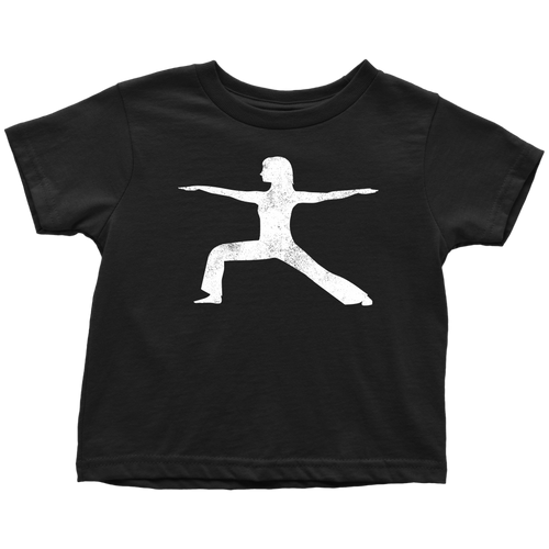Yoga Warrior Chick Toddler Tee