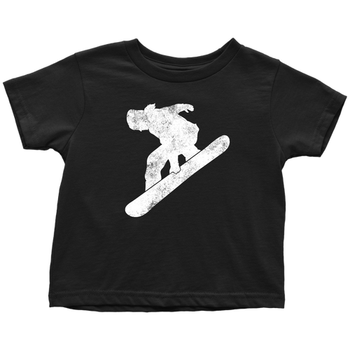 Snowboarder Chick Toddler Tee