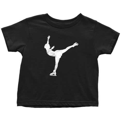 Ice Skater Chick Toddler Tee