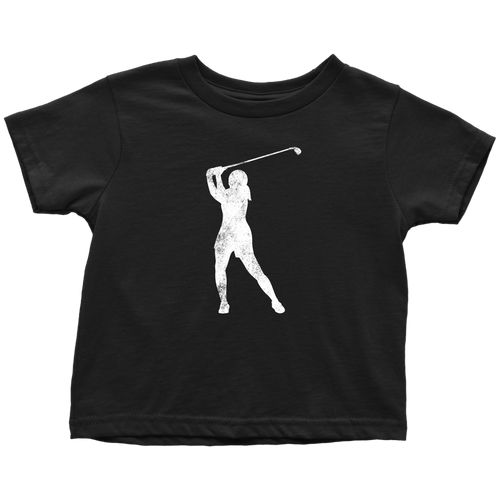 Golfer Chick Toddler Tee