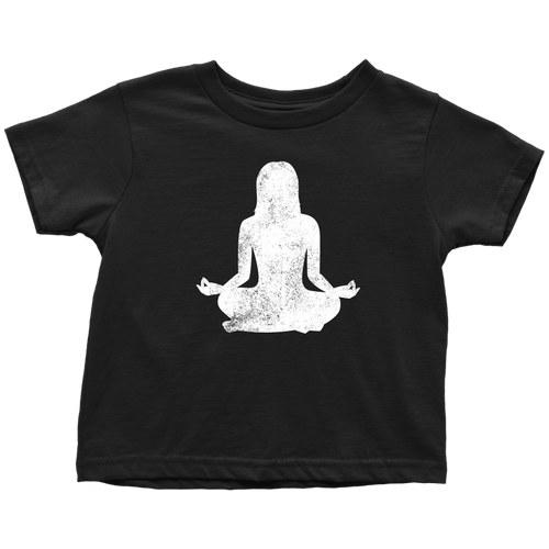 Om Yoga Chick Toddler Tee