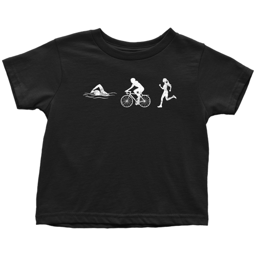 Triathlon Chick Toddler Tee