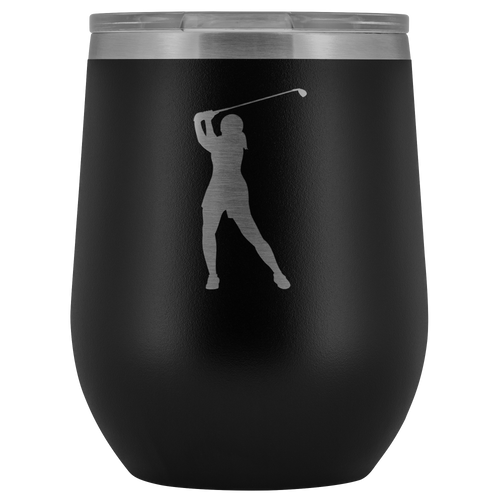 Golfer Chick Insulated Wine Tumbler - Chick 9 Clothing