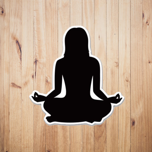 Om Yoga Chick Sticker