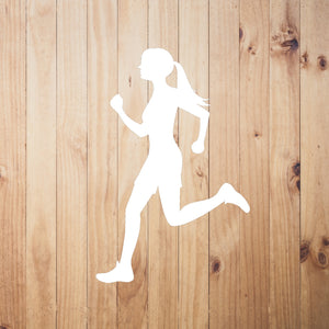 Runner Chick Vinyl Sticker - Chick 9 Clothing