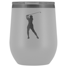Golfer Chick Insulated Wine Tumbler