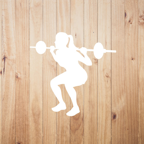 Weight Lifter Chick Vinyl Sticker - Chick 9 Clothing