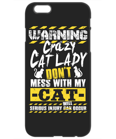Warning Crazy Cat Lady (iPhone Case)