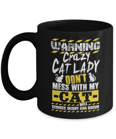 Warning Crazy Cat Lady (Mug)