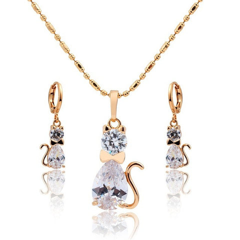 Cute Kitty Pendant Necklace