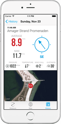 Smartphone Windmeter