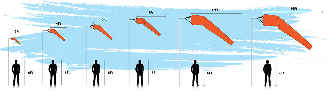 Premium Windsock Scale Diagram