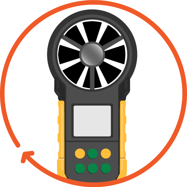 anenometer icon, Handheld Windmeter and Anemometers
